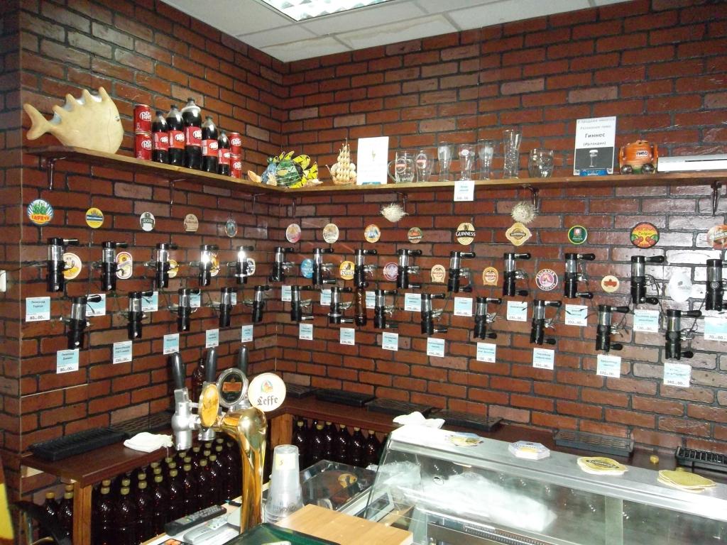 Оформление помещения магазина разливного пива