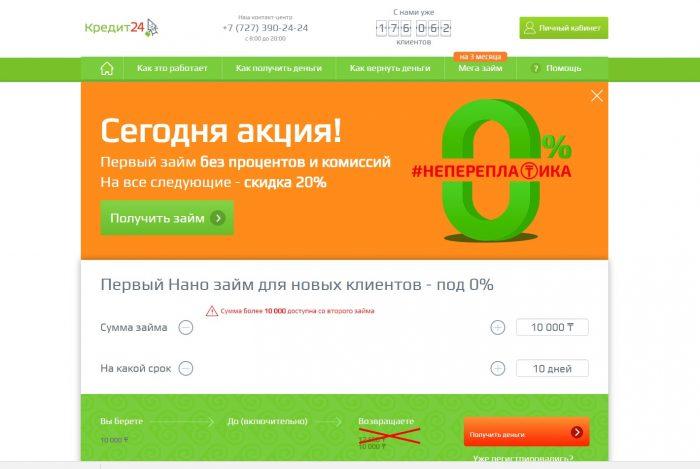 Сайт kredito24 ru