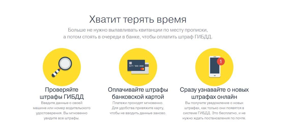 Оплата штрафа ГИБДД через Тинькофф банк