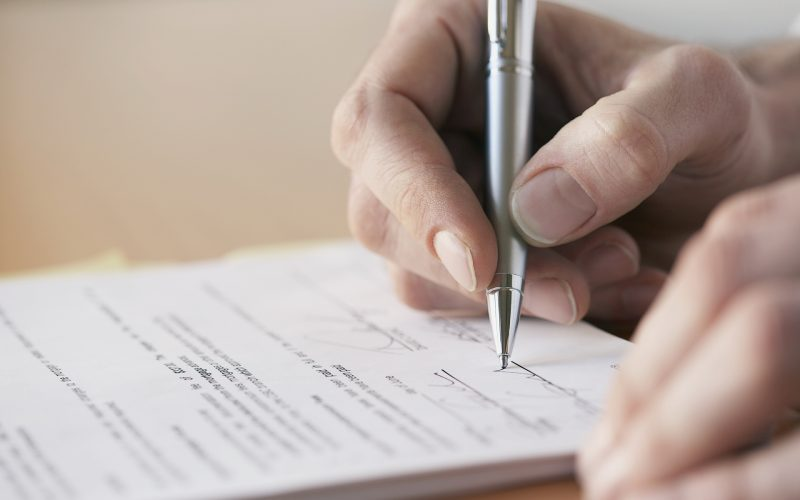 Составление расписки при займе
