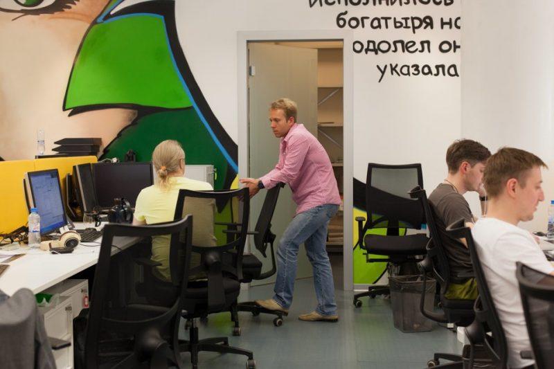 В офисе Тинькофф банка