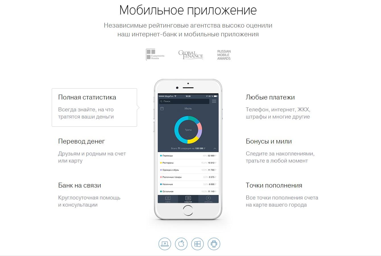 Управление счетами через мобильный банкинг