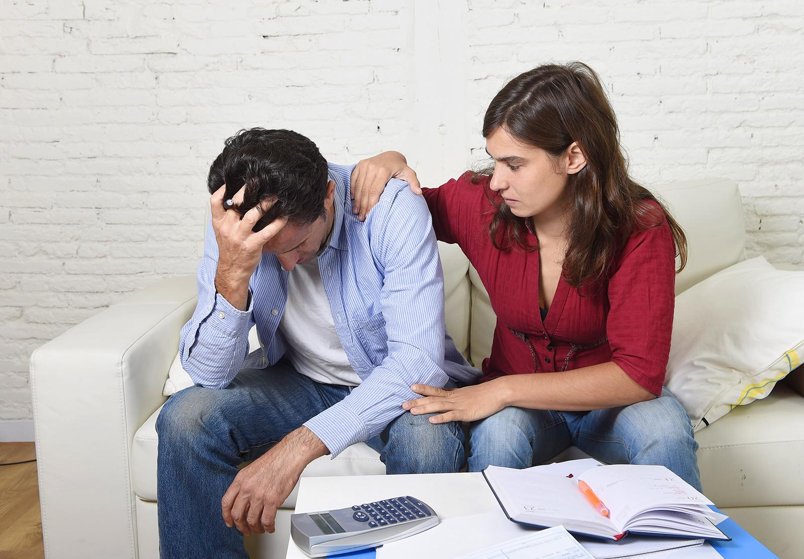 Расстроенная семейная пара
