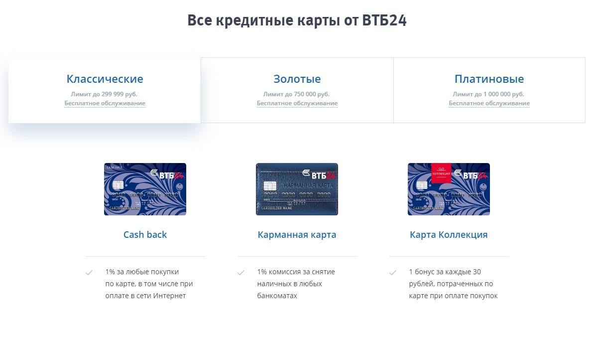 Банковские карты и условия обслуживания по ним