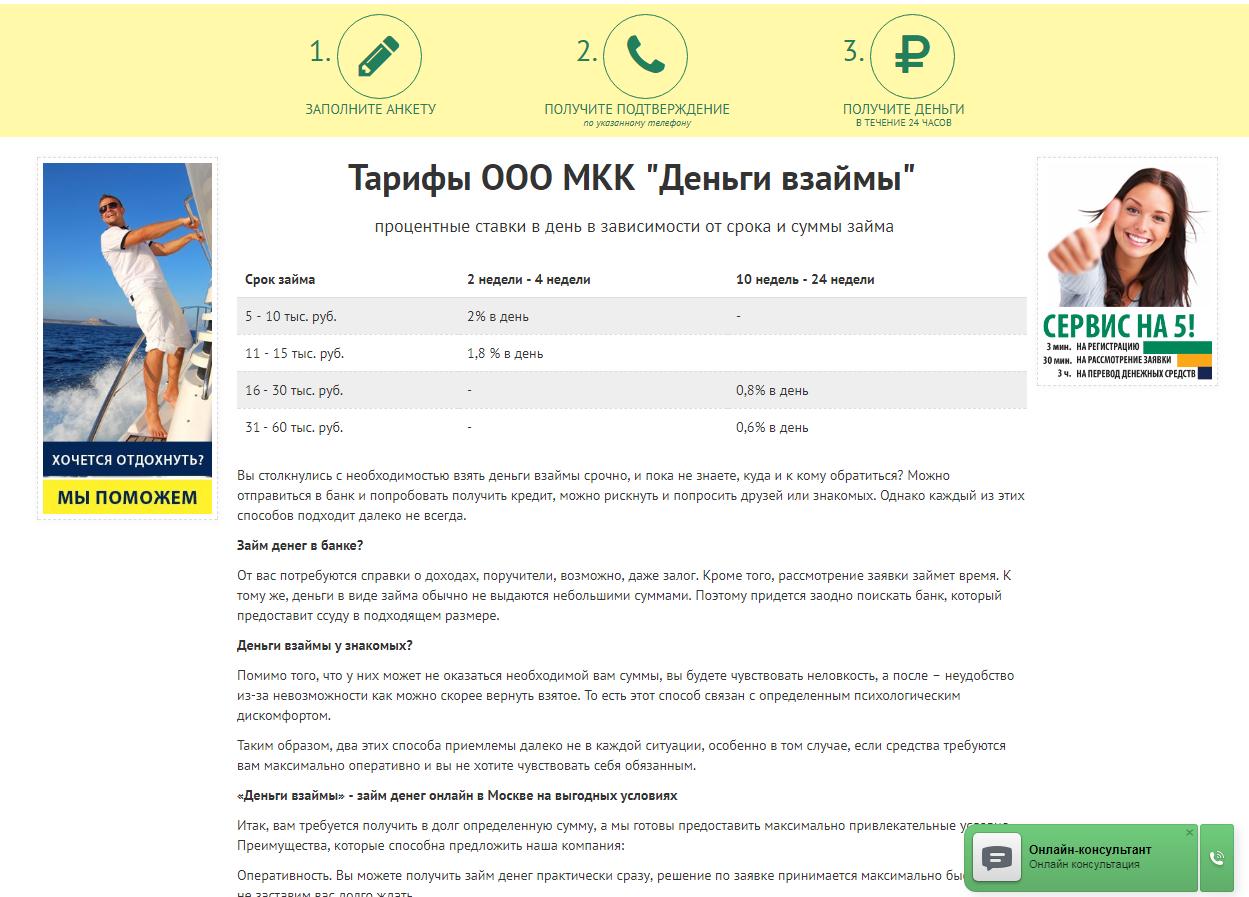 Деньги взаймы: отзывы клиентов и должников о МФО, официальный сайт